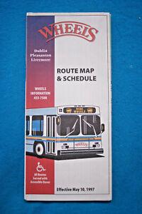 Wheels-Route-Map-amp-Schedule-Dublin-Pleasanton-Livermore-May-10-1997