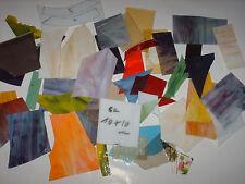 ca. 3 Kg Tiffany-Glas, mittelgroße Stücke, Mosaik, Inglasien