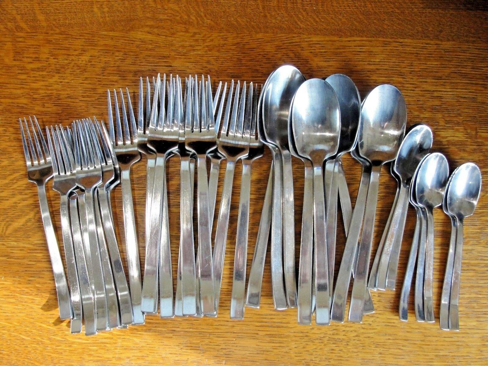 39 pcs IKEA  LARD  Stainless Steel Flatware  Forks & Spoons