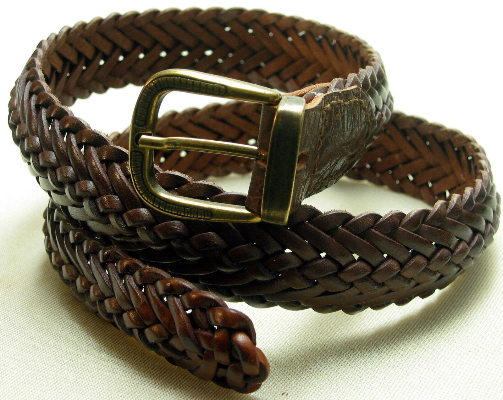 1A Saddler Quality Leather Belt NEW Flechtgürtel Leather flechtledergürtel 3cm 1A #