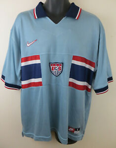4c8be12cb12 Nike 1995 USA Away Football Shirt United States Soccer Jersey Mens ...