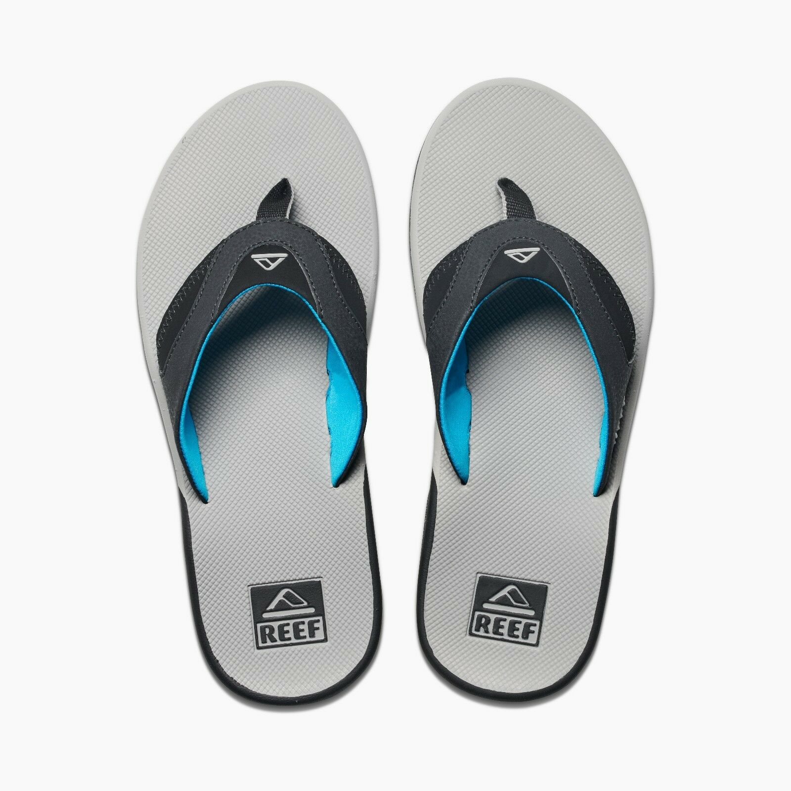 REEF MENS FLIP FLOPS.NEW FANNING GREY ARCH SUPPORT THONGS SANDALS SHOES 8S 26 LG