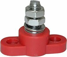Positive Insulated Battery Power Junction Post Block 38 Lug X 16 Thread Red