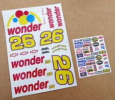 RC 10th SCALE Nascar 'TALLADEGA NIGHTS RICKY BOBBY' WONDER car Decals Stickers