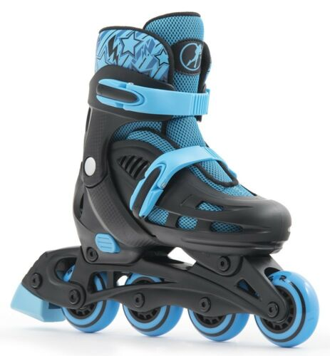 SFR Spirit - Black & Blue Kids  Adjustable Inline Skates