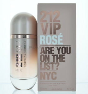 212 Vip Rose By Carolina Herrera Eau De Parfum 27 Oz 80 Ml Spray Ebay