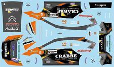 DECALS 1/43 CITROËN C4 WRC - #31 - GROOTEN - RALLYE DU CONDROZ 2015 - D43395
