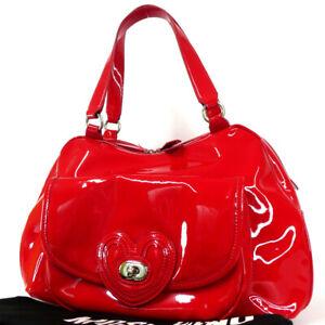 Authentic LOVE MOSCHINO  Handbag Enamel leather[Used]
