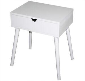 Nachttisch Holz weiß antik Nachtschrank Schrank NEU Landhaus Tisch Beistelltisch