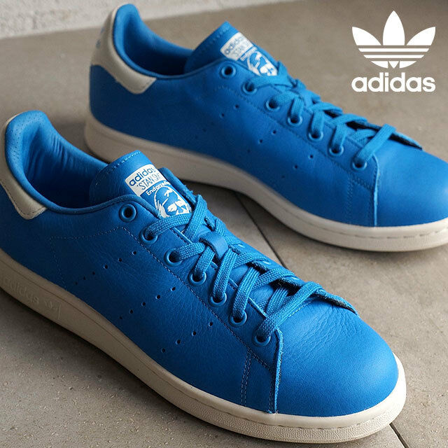 Adidas Originals Stan Smith Men`s Leather Casual Trainers schuhe Blau S79300