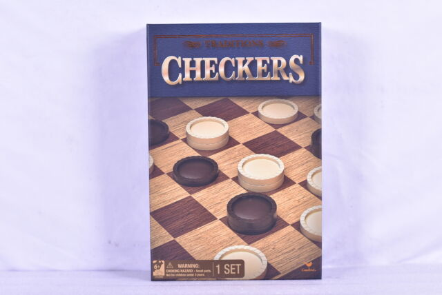 Cardinal Games Traditions Checkers Classic Tabletop Strategy Game