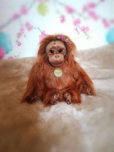 Aurora New Plush Orangutan Cuddly Soft Toy Teddy Bear Bean Bags Miyoni Orang-utan 11in