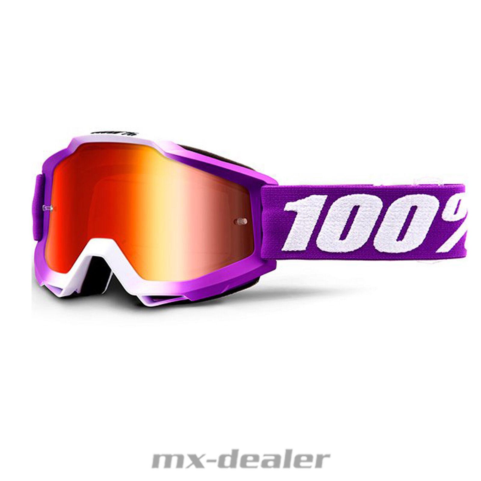 2019 100 % Prozent Accuri Framboise verspiegelt verspiegelt verspiegelt MX Motocross Crossbrille BMX MTB  | Sale Outlet  5f6465