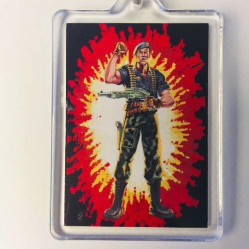 FLINT CARD ART GI Joe Action Force Key Ring Chain Keyring Fob