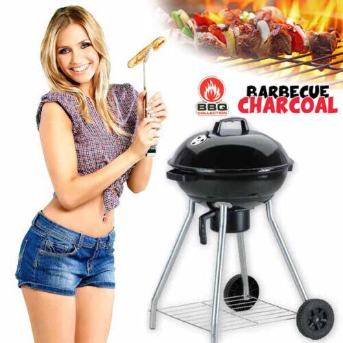 BARBECUE GRIGLIA BBQ CARBONE COPERCHIO 2 RUOTE CARBONELLA GIARDINO ACCIAIO INOX