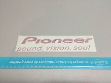 Pioneer Sticker Sound System Red Vision Soul Vinyl Decal car audio stickers