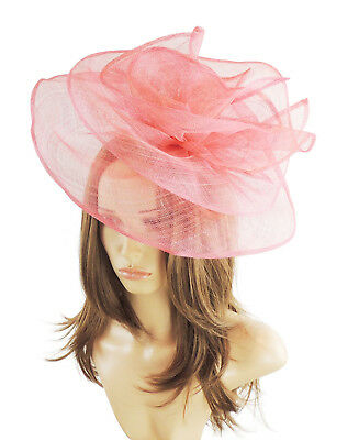 Formal Events C12 Weddings Derby Orange//Fuchsia Fascinator for Ascot Proms