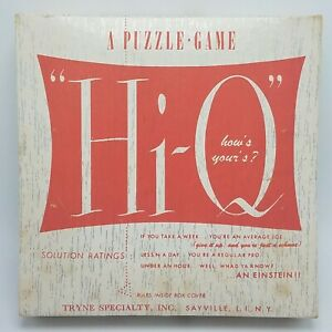 Vintage-1950-s-Hi-Q-The-New-Game-Craze-International-Games-Of-Canada-COMPLETE