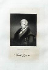 1835 Boone Daniel Stahlstich-Porträt Longacre Harding