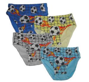 9er Pack Jungen Slips Kinder Unterhosen mit Fußball Motiv