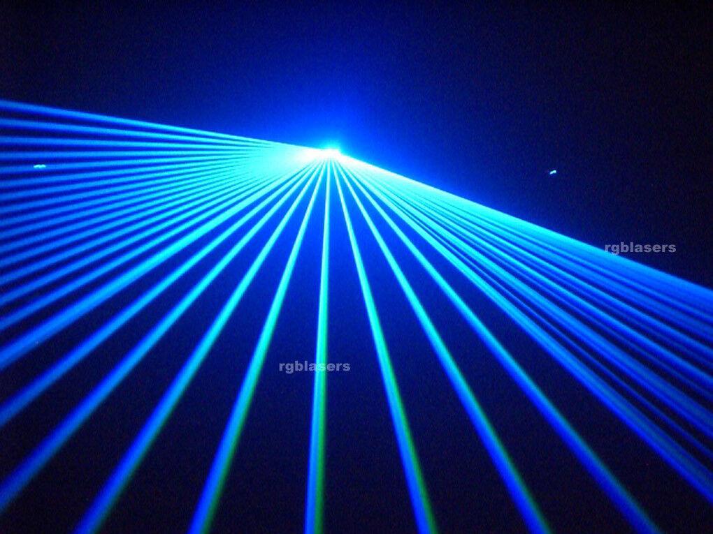 1000mw Blau DMX512 American ILDA DJ Club Laser Party Bühnenbeleuchtung 1W Beam Show