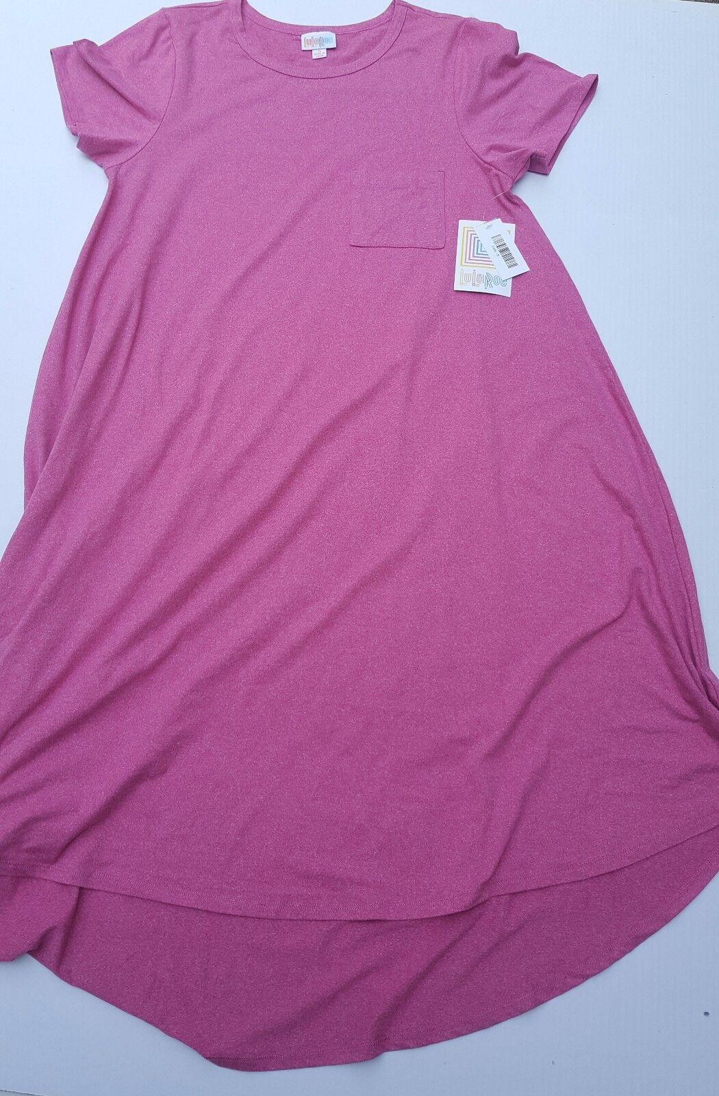 New LuLaRoe Carly Short Sleeve Solid Farbe rot Maroon Dress NWT Small S Rare