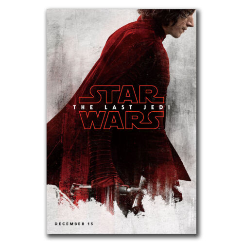 E3344 Art Star Wars The Last Jedi VIII 2017 Movie Poster Hot Gift 24x36 40inch
