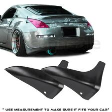 Fit for 2003-2009 Nissan 350Z Z33 JDM Rear Bumper Lip Splash Mud Guards Spats