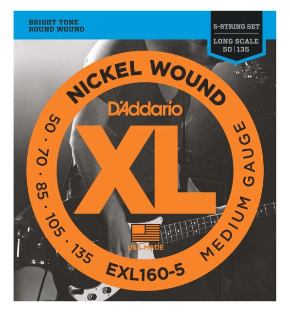 D'ADDARIO EXL160-5 - Muta per Basso 5 Corde Medium (050/135)