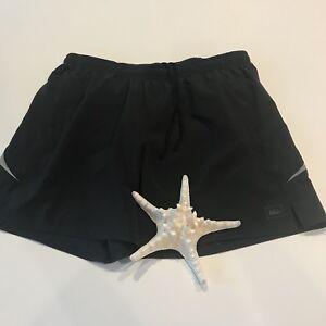 b6021194d2 REI Mens Shorts/Swim Trunks Large Black Lined Camping Hiking Sporty ...