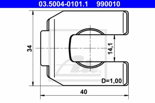 10x 03.5004-0101.1 ATE Halter Bremsschlauch