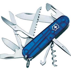 Victorinox-Offiziersmesser-Huntsman-mit-kostenloser-Gravur-blau-transparent