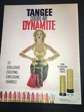 Tangee Lipstick Ad Dynamite Sexy Pun Up Girl 1960 Mid Century Modern