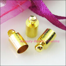 25Pcs Crimp End Caps for Chains Cords Leather 5x10mm Gold Silver Bronze Plated