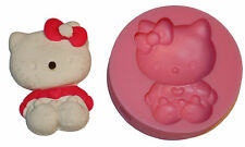Silikonform Hello Kitty Fondant Backform Eisform Marzipan Torten Deko Seife