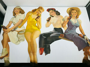 Vintage-Large-Coca-Cola-Pin-Up-girls-advertising-soda-coke-posters-YOU-PICK
