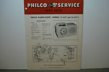 PHILCO RADIO-PHONOGRAPH SERVICE MANUAL MODEL 51-537 51-537-1 4 PAGES