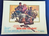 Original 1969 MORE DEAD THAN ALIVE Half Sheet Movie Poster 22 x 28 WESTERN