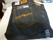 NEW Mens NUDIE JEANS Slim JIm MADE IN ITALY 31 x 34 REG Straight Dry BrokenTwill