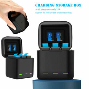For GoPro Battery Charging Box For Hero 9 Black 3 Slot Charger Storage