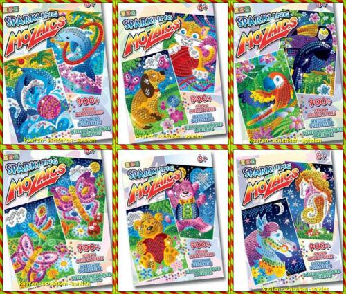 Kreativ-Set Mosaik Teile 900 Stück Neu! 6 verschiedene Sets zur Auswahl Pferde..