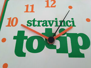 stravinci-TOTIP-OROLOGIO-pubblicitario-vintage-plastique-style-latta-tabella