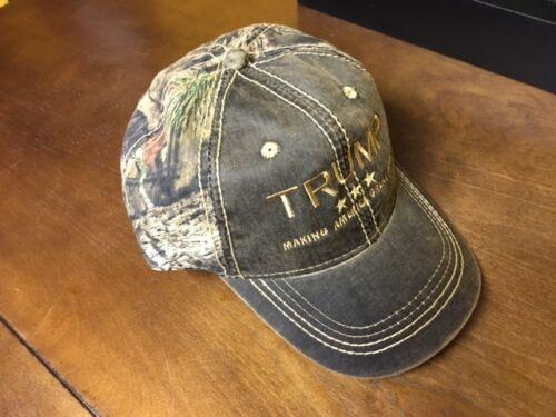 TRUMP  MAKING AMERICA GREAT AGAIN Embroidered Cap Mossy Oak TAN Hunting