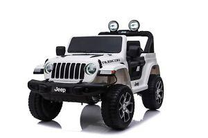 Auto-Macchina-Elettrica-Jeep-Wrangler-Rubicon-12V-per-Bambini-porte-apribili-Con