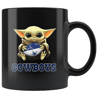 Dallas COWBOYS Baby Yoda Star Wars Cute Yoda COWBOYS Funny Yoda Coffee Mug