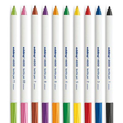 Edding 4600 Textile T-Shirt Fabric Pen Marker Pen - Fine 1mm Line