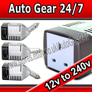 Image Is Loading 12v Car Cigarette Adapter To 240v House Mains