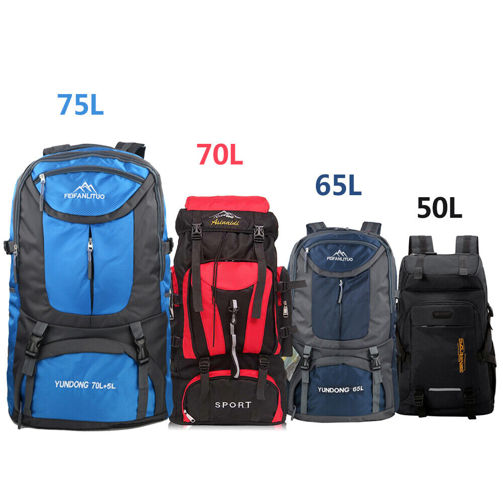 Waterproof Camping Backpack Hiking Shoulder Bag exterior Travel Rucksac... - s l1600