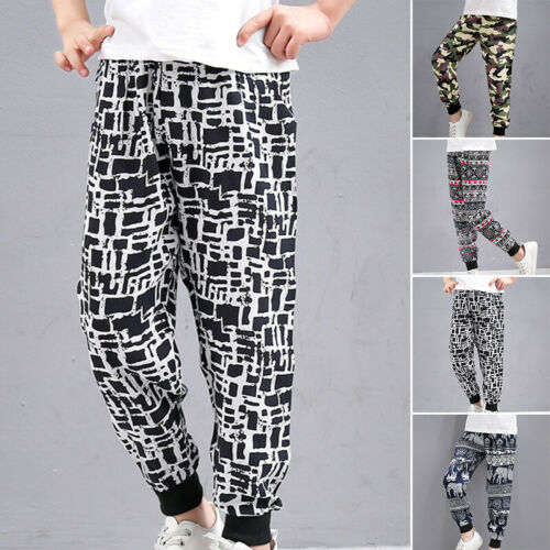 Kids Pants Boys Trousers Camouflage Sports Fashion Elastic Pants Trousers Jogger