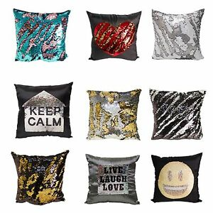 Mermaid-Throw-Pillow-Reversible-Colorful-Sequin-Cushion-Comfortable-Fill